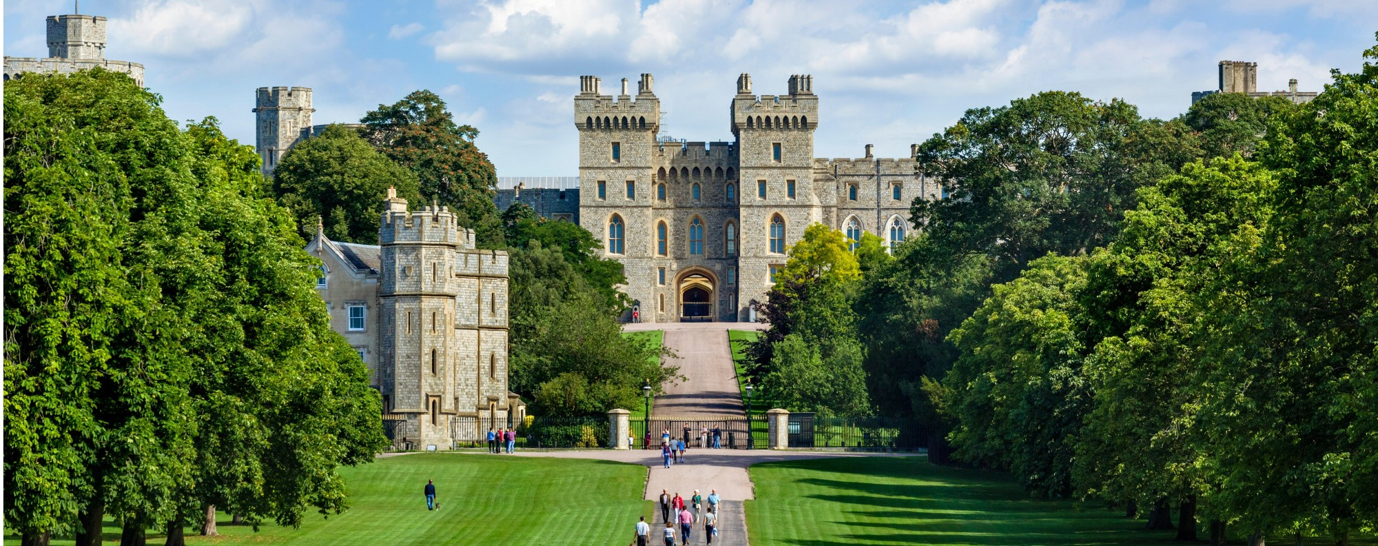 The Long Walk, with Windsor Castle in the distance, in Windsor Great Park. Picture: Alamy