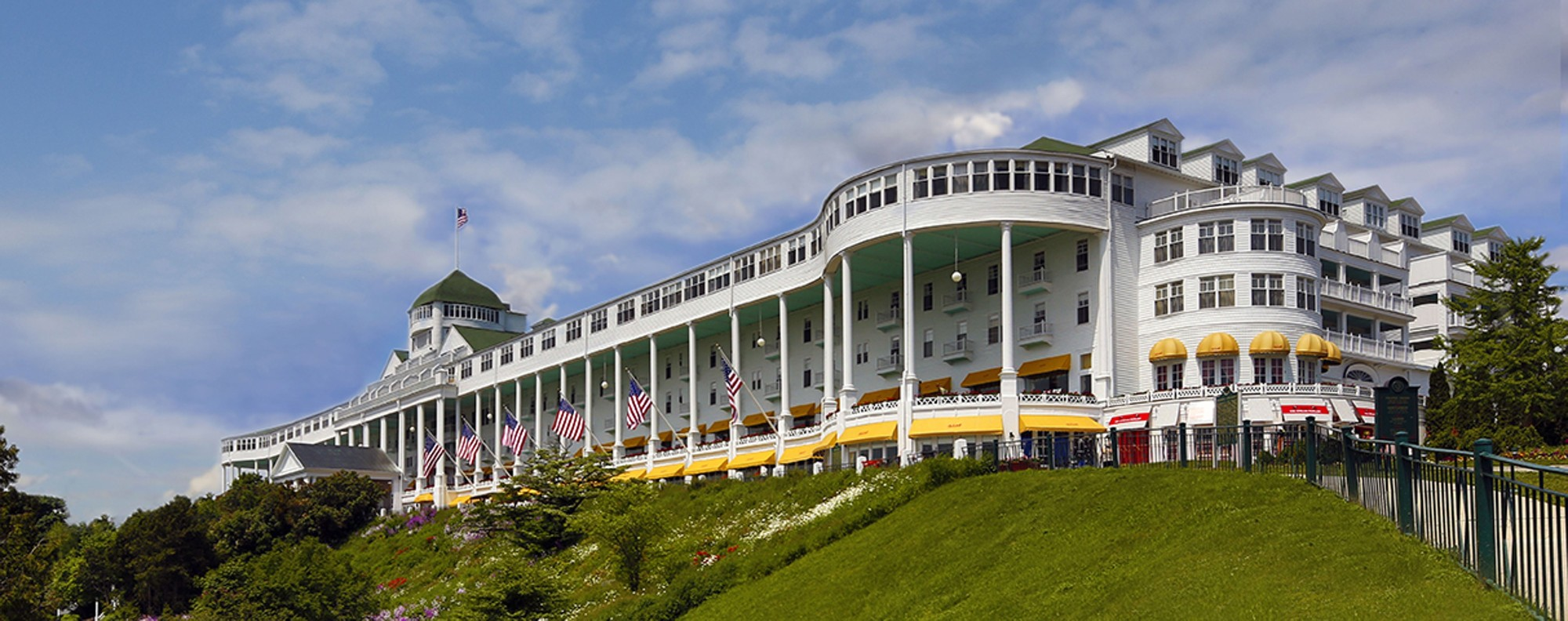 The Grand Hotel on Michigan's Mackinac Island recalls bygone glamour and hospitality. Picture: Don Johnston