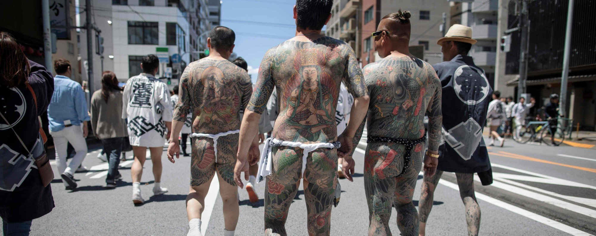 In Japan, tattoos are associated with yakuza. Photo: AFP