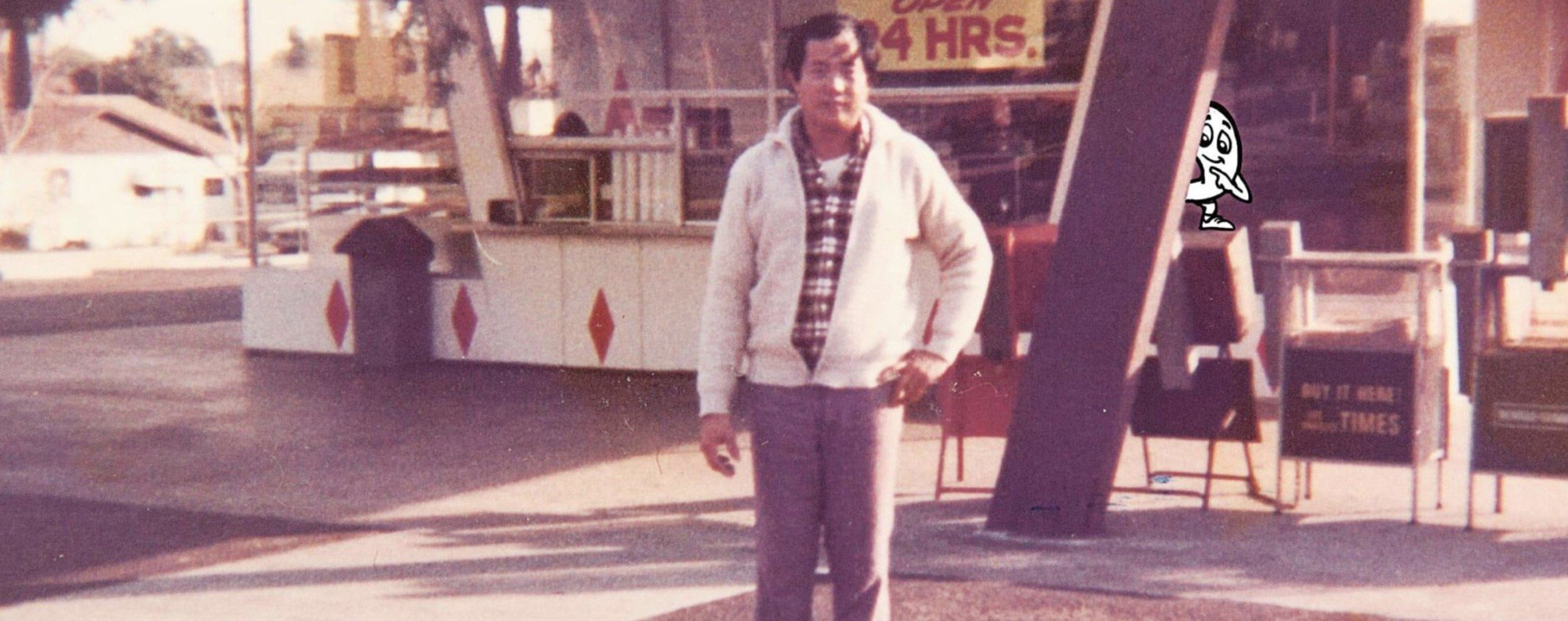 Ted Ngoy at his first doughnut shop in 1977. Photo: Ted Ngoy