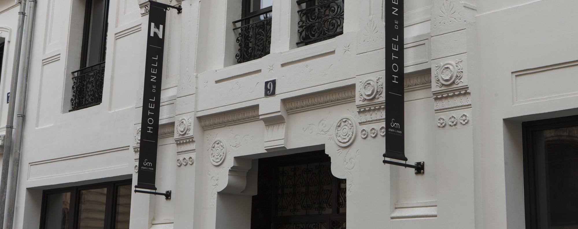 The Haussmann-style exterior of Hôtel de Nell, in Paris. Picture: Hôtel de Nell