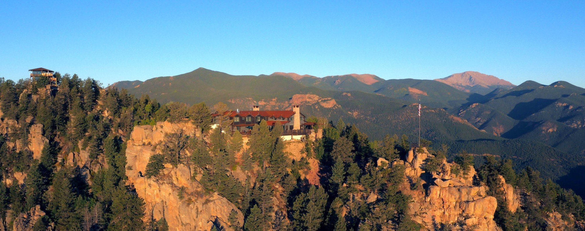 The Cloud Camp lodge at The Broadmoor is located atop Cheyenne Mountain.