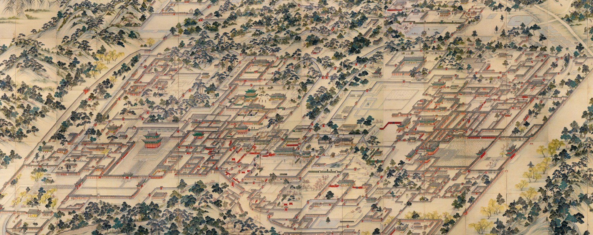 Donggol-do, a painting of the two Korean royal palaces. Photo: Wikicommons