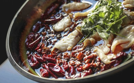 Fish in chilli oil, a traditional dish from the Qi House Sichuan restaurant in Wan Chai. Photo: Paul Yeung