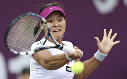 15c5881ca7d5a Li Na is in action in Hong Kong tonight against Sam Stosur. Photo  Reuters