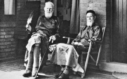 George Bernard Shaw (left) with Sir Robert Ho Tung. Photos: L.F.H. Beard; Carl Van Vechten