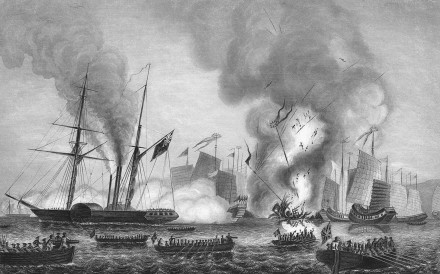 A rendering of a naval battle during the First Opium War, a conflict closely identified with Jardine, Matheson & Co. Photo: Corbis