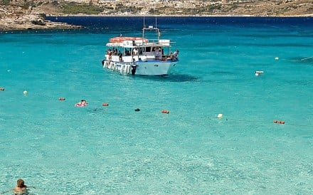 The Blue Lagoon, off the Maltese island of Comino