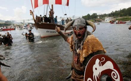 A re-enactment of a Viking invasion. Photo: EPA