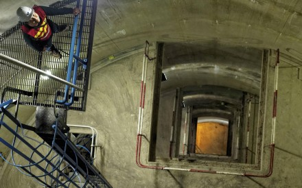 Inside Tower X, at High Island Reservoir. Photos; Martin Williams; SCMP; Government Information Services