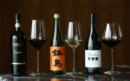(From left): Grace Vineyard Tasya's Reserve Marselan; Nabeshima sake; and Churton Marlborough Pinot Noir - all from Hotel Icon's Above & Beyond. Wine lovers will be able to sample a selection of Asian wines at Hotel Icon's Asian Wine Festival on April 19. Photo: Jonathan Wong