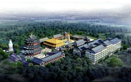 An artist's impression of the proposed Forbidden City-inspired theme park in Wyong Shire, New South Wales, Australia.