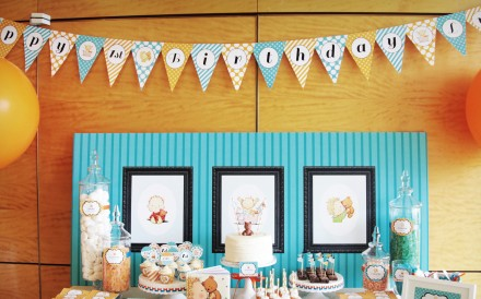 This handout image shows Birthday party set up by Fete Event Planner. HANDOUT [2015 FEATURES LIFE KID's PARTIES]