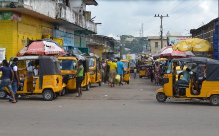 Auto-rickshaws in the streets of Monrovia. Photo: AFP