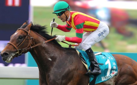 """Maurice will be a plum ride for Tommy Berry as the """"Magic Man"""" Joao Moreira will attest to after winning the Champions Mile this month aboard the Japanese superstar. Photos: Kenneth Chan"""