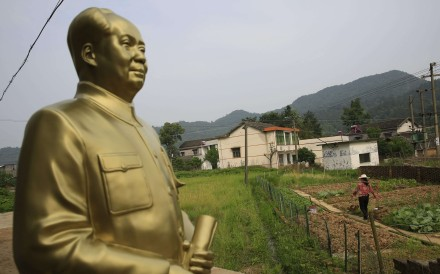 A Mao Zedong statue overlooks land in Shaoshan, central Hunan province, the hometown of the former Communist leader. Photo: EPA
