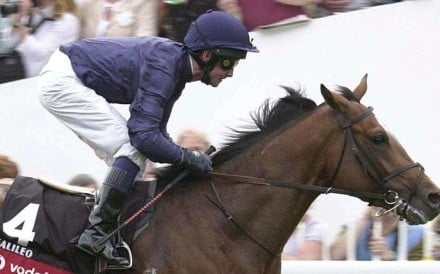 Galileo (Michael Kinane) wins the 2001 Derby at Epsom. Galileo has become one of the world's leading stallions. Photo: AFP