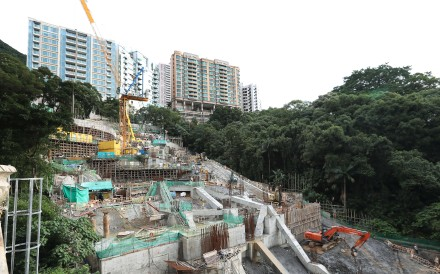Kotewall Court today. Plans are in place for three luxury residential blocks with 14 floors and four levels of parking lots, it should be prime real estate and opinion is divided over whether the new development will be able to shake off the landslide's superstitious legacy. Photo: Edward Wong