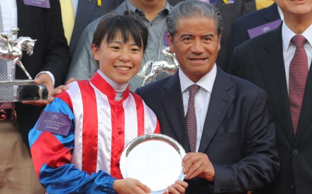 Kei Chiong was crowned the inaugural winner of the Tony Cruz Award, but the Hong Kong legend believes the female apprentice needs to learn how to win from the back. Photo: Kenneth Chan
