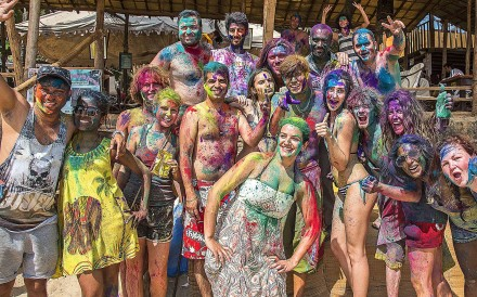 A colourful beach party in Palolem. Pictures: Tim Pile