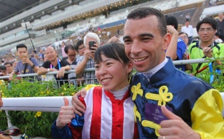 """If 2015-16 was the """"season of the jockey"""" then Kei Chiong and Joao Moreira played starring roles. Photo: Kenneth Chan"""