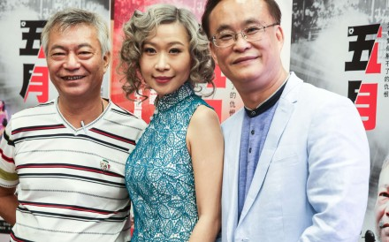 Director Lai Man-cheuk (right), actress Khloe Chu and actor Liu Wai-hung will work together on the historical film. Photo: Sam Tsang