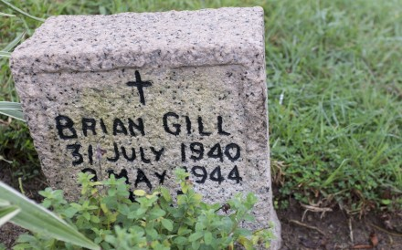 'You were two sons rolled into one,' my mother told me the first time we visited my half-brother Brian's grave in Stanley Military Cemetery, writes Ian Gill, who but for his death in 1944 might never have been conceived at the nearby internment camp