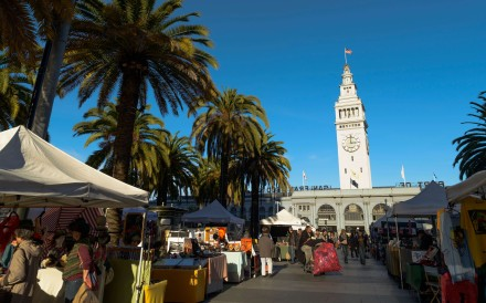 San Francisco's Ferry Plaza Farmers Market. Pictures: Alamy; Janice Leung Hayes