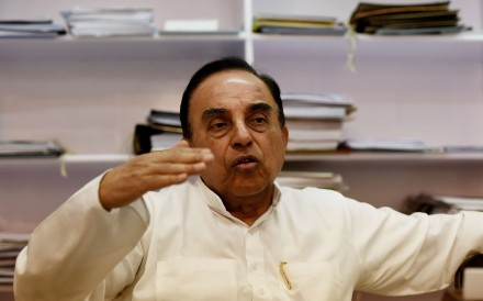 Subramanian Swamy, an Indian politician and a member of the Rajya Sabha, the upper house of the Indian Parliament. Photo: AFP