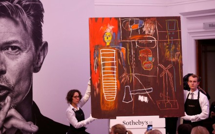 The highest-selling item in Bowie's collection, the graffiti-inspired Air Power canvas by Basquiat, sold for £7.09 million Photo: Reuters