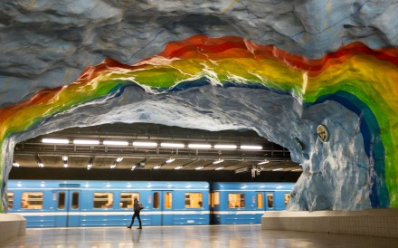 While inhabitants of the Swedish capital may prefer their fashion palette muted, their public spaces are a riot of colour and culture