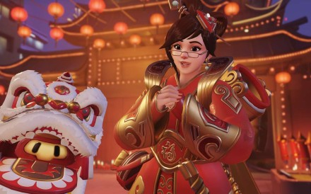 Character Mei in Lunar New Year costume in the updated Overwatch.