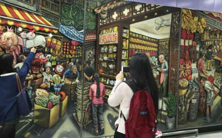 The stunning 3D artwork by Hong Kong-based British artist Louise Soloway Chan was a labour of love and a celebration of Hong Kong's disappearing street life