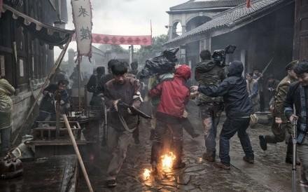 The set of War Against the Bandits. Pictures: Zigor Aldama