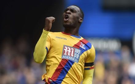 Crystal Palace's Christian Benteke celebrates scoring against Chelsea. Photo: Reuters
