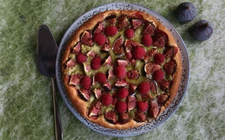 Indulge your sweet tooth by using buttery and silky smooth brioche dough to make a fig and raspberry tart filled with pistachio frangipane