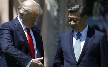 President Donald Trump and Chinese President Xi Jinping at their summit in Florida in early April. Photo: AP
