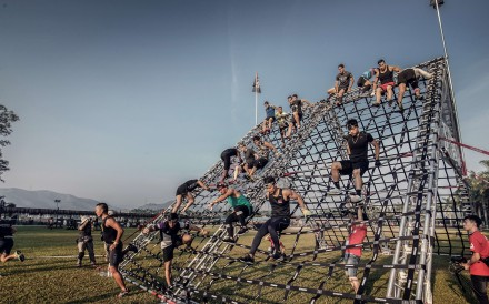 Competitors in action at the Spartan Race Hong Kong 2016. Photo: Spartan Race