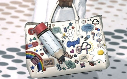 A bestickered bag by Anya Hindmarch. Picture: Reuters