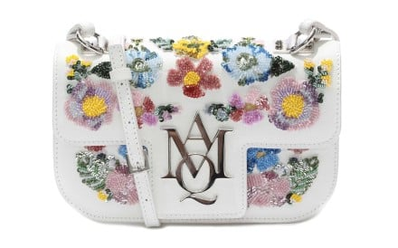 Must-haves for the season: Alexander McQueen's handbag with floral embroidery and long, flowy dress from H&M