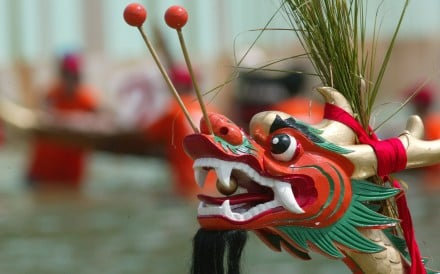 A dragon boat in Stanley on the southern shore of Hong Kong Island. Picture: SCMP