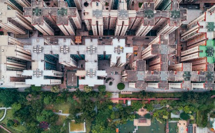 Mei Foo, in an aerial series shot by photographer Andy Yeung, who aims to show crowded urban living in Hong Kong. Photos : Andy Yeung