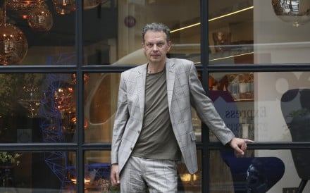 British designer Tom Dixon at his store in Hollywood Road, Central. Photo: Jonathan Wong