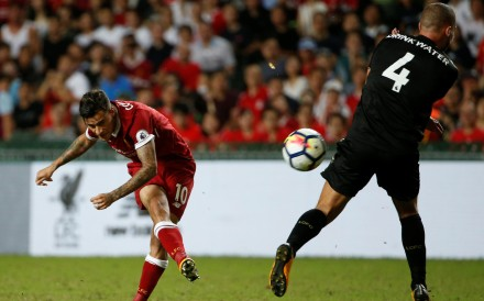 Liverpool's Philippe Coutinho in action against Leicester City in the recent Premier League Asia Trophy tournament in Hong Kong. Photo: Reuters