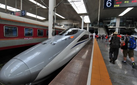 The high-speed railway connecting Hefei and Fuzhou in eastern China covers more than 800km in about four hours. Photo: Xinhua