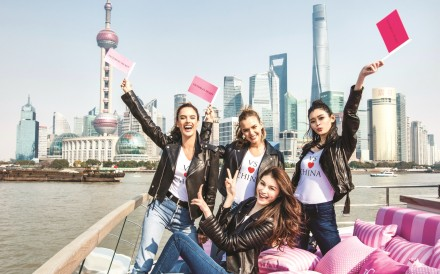 Victoria's Secret Angels (from left) Alessandra Ambrosio, Candice Swanepoel, Sui He and Ming Xi will star in a fashion show in Shanghai in November.