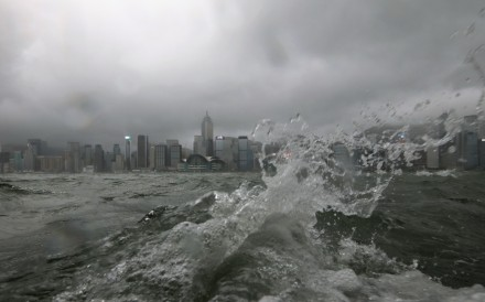 Strong waves in Victoria Harbour as Typhoon Pakhar hits Hong Kong on August 27, just a few days after Typhoon Hato struck. Photo: Felix Wong
