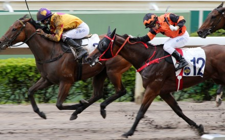 Joao Moreira guides Star Superior (left) to victory at Sha Tin on Sunday. Photos: Kenneth Chan