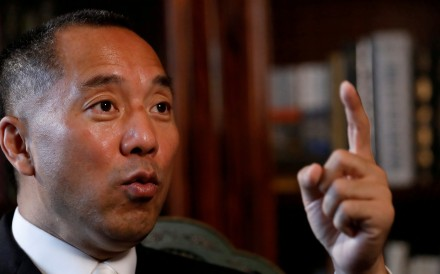 An Australian man has claimed that he is the owner of two properties that billionaire Chinese fugitive Guo Wengui (pictured) earlier said belonged to a Chinese public security official. Photo: Reuters