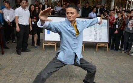 Jack Ma is appearing in the movie to promote tai chi. Photo: Alibaba